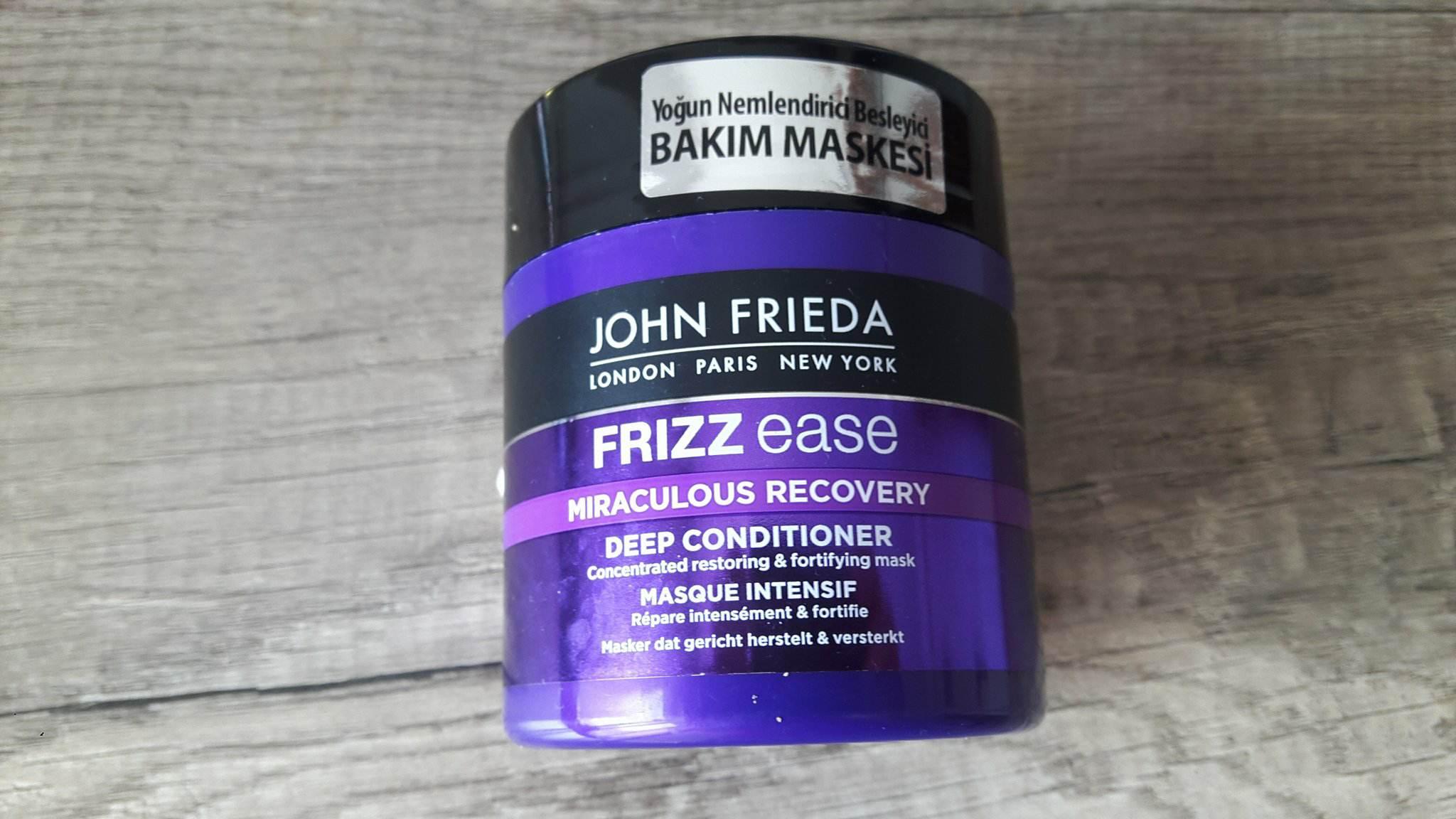 John Frieda Frizz Ease Yoğun Nemlendirici Besleyici Bakım Maskesi Kullanıcı Yorumları