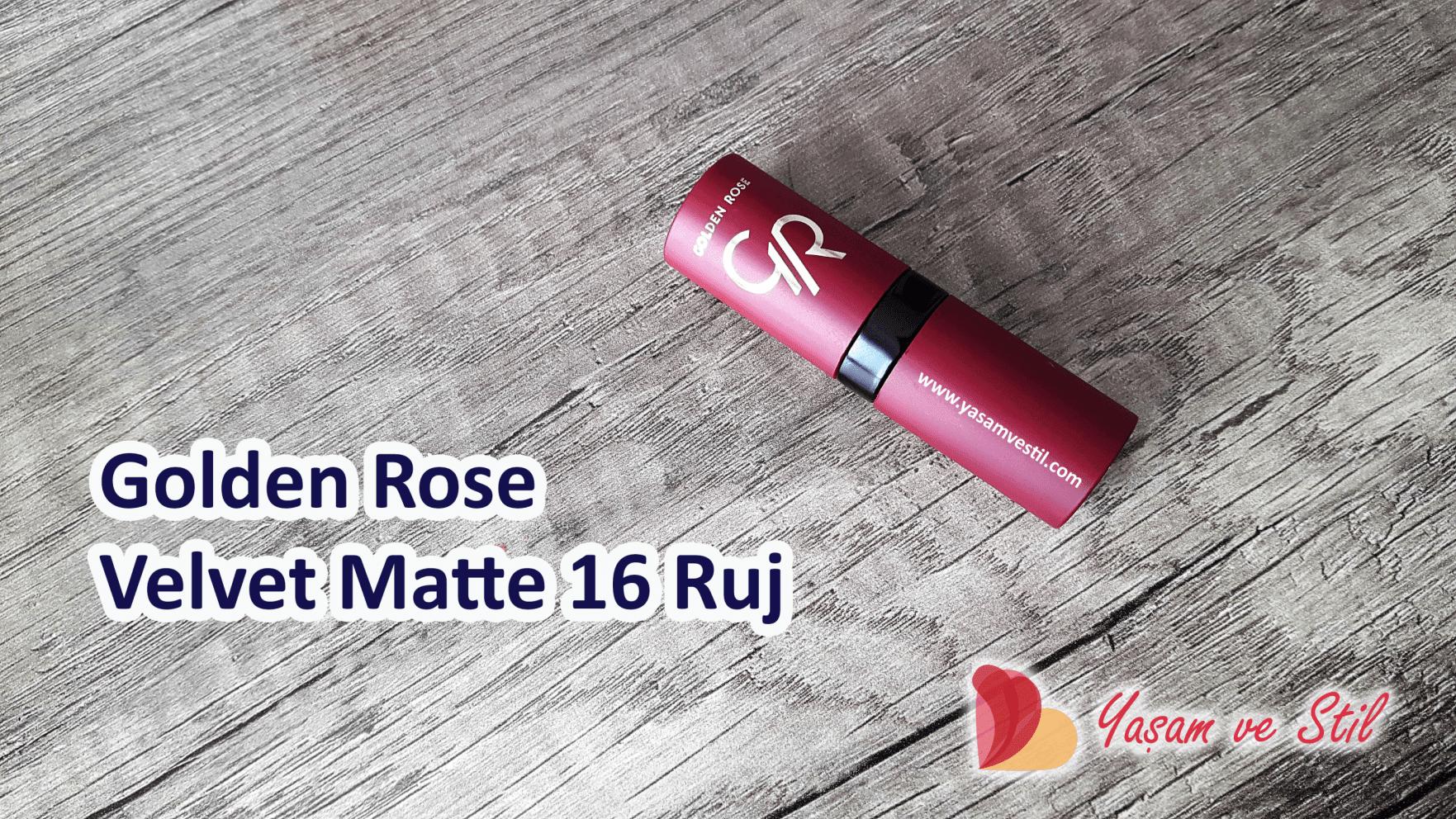 Golden Rose Velvet Matte Ruj 16